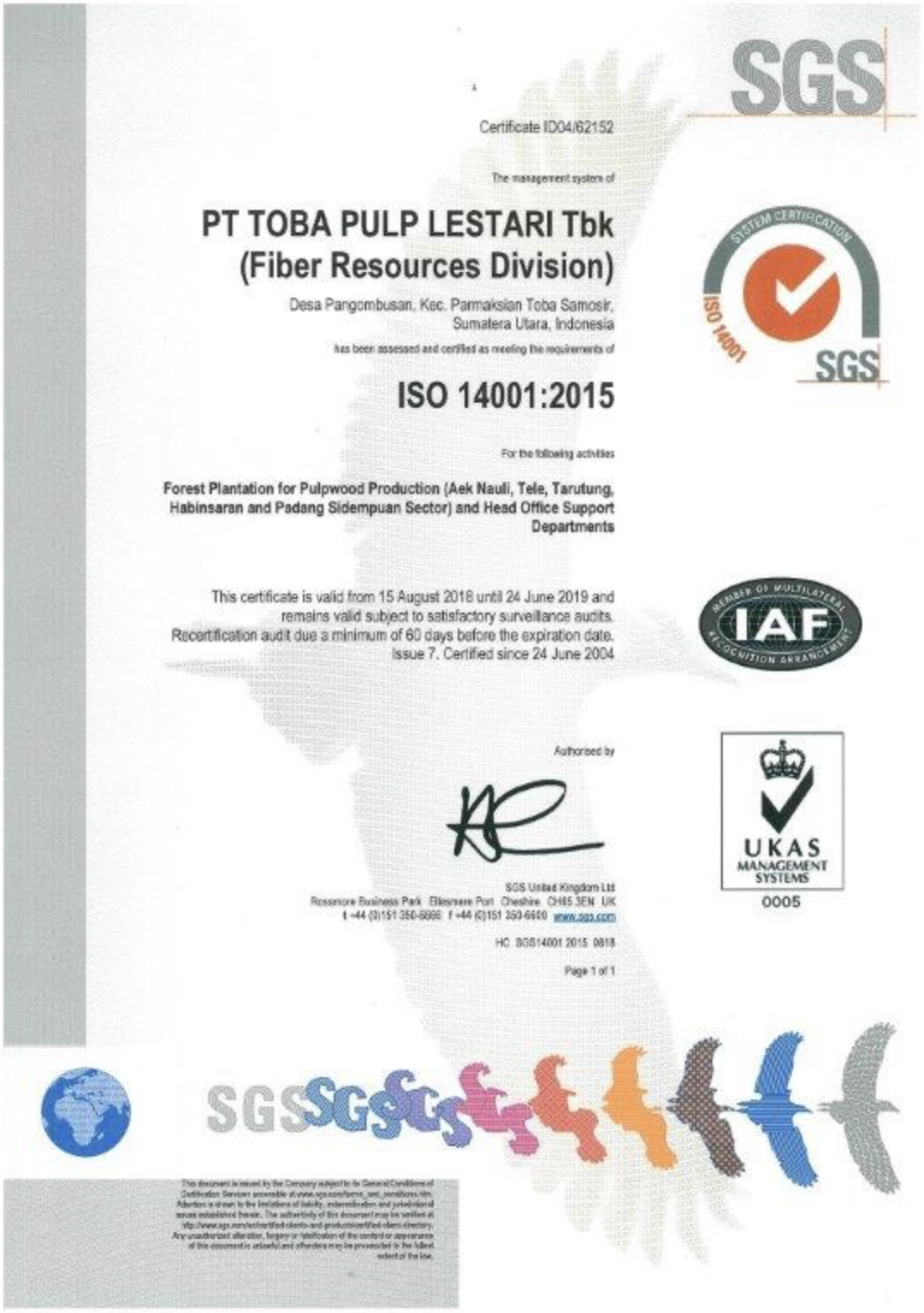 ISO 14001,2015