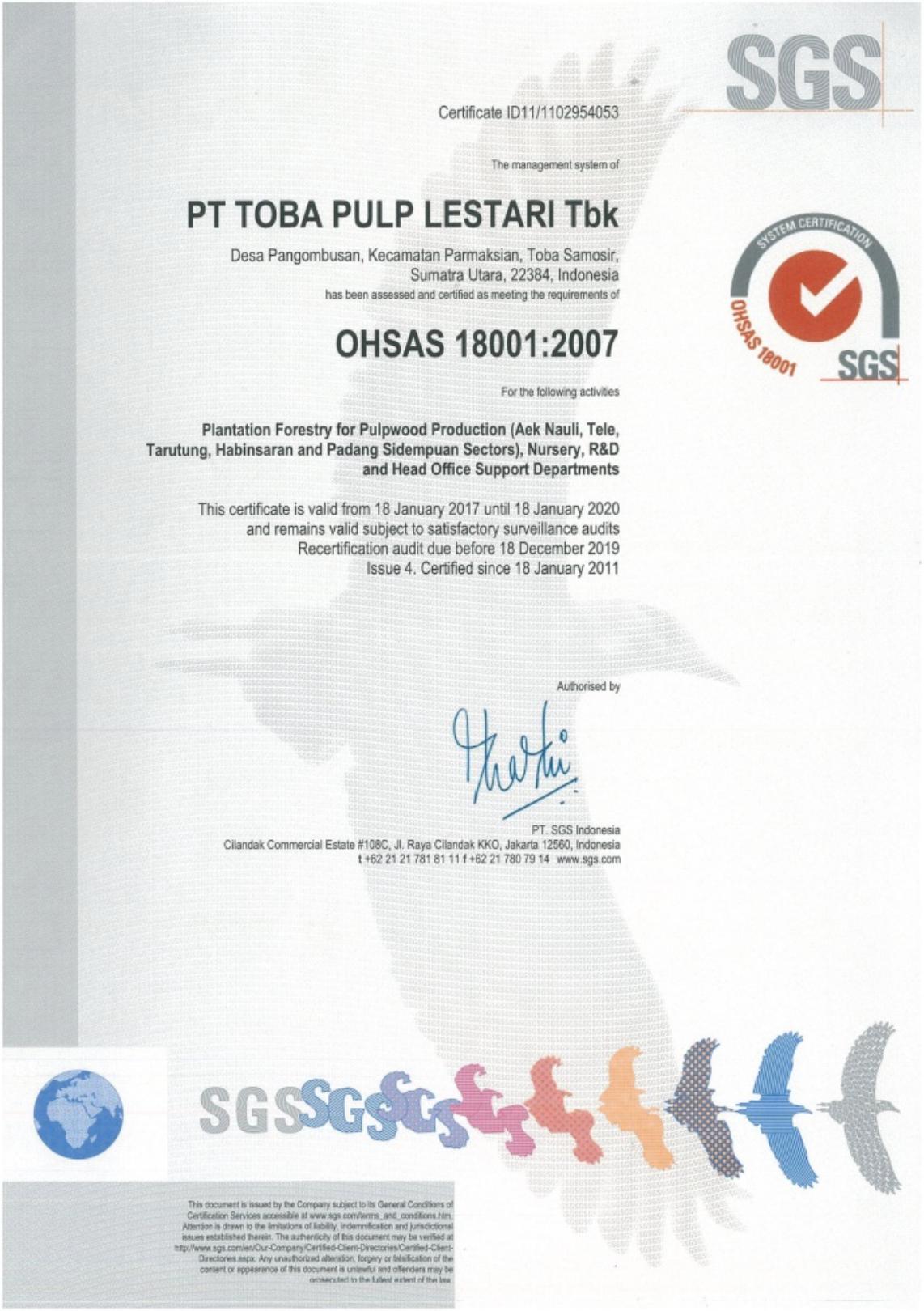 OHSAS 18001,2007